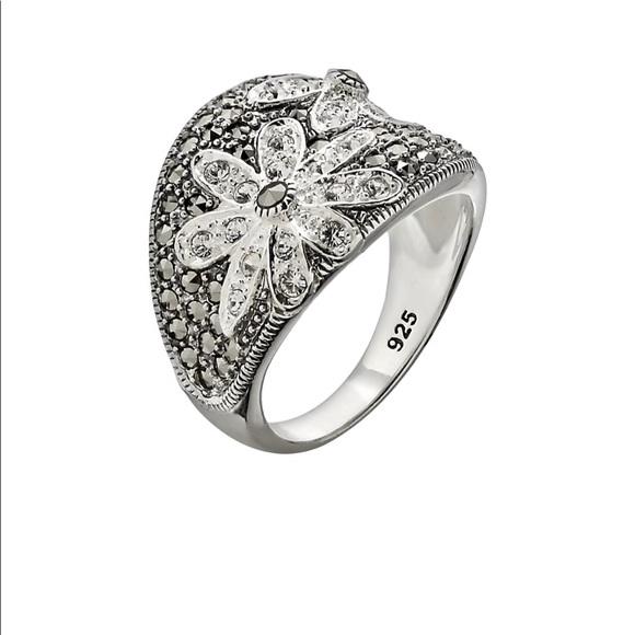 efb6c2bd8 Lavish by TJM Jewelry | Swarovski Marcasite Daisy Ring Size 6 | Poshmark